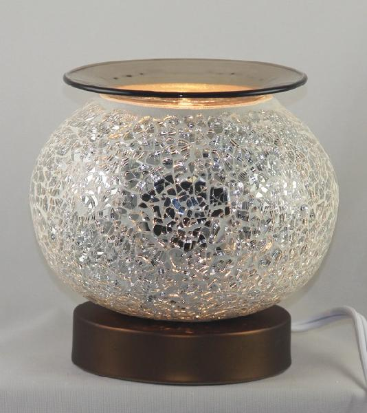 ED-375 White Crackle Glass