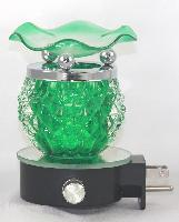 EB-011 Green - WALL PLUG IN OIL BURNER, PLUGS DIRECTLY INTO THE OUTLET. DIMMER SWITCH.
