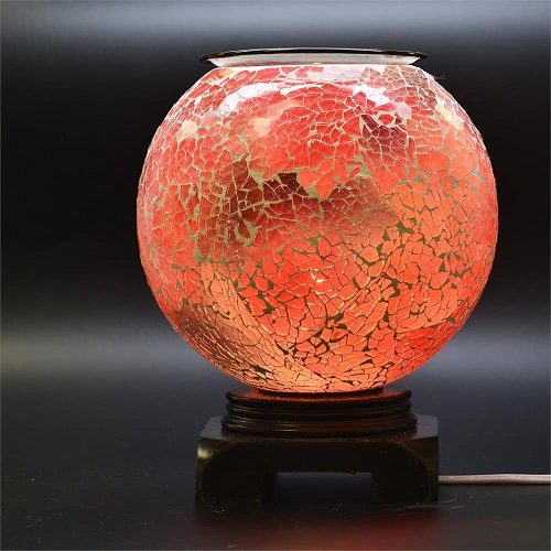 ED-352 Red Globe -  DESIGNER ELECTRIC OIL BURNER GLASS FIGURINE FRAGRANCE LAMP WHOLESALE BY ETS DESIGN