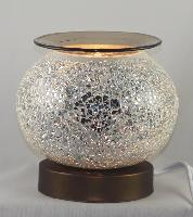 "ED-375 White Crackle Glass - Crackle Glass Burner, 5.5"" x 5.75"" x 5.75"" Individually packed with 12 pcs per master carton"
