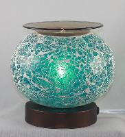 "ED-376 Blue Crackle Glass - Crackle Glass Burner, 5.5"" x 5.75"" x 5.75"" Individually packed with 12 pcs per master carton"