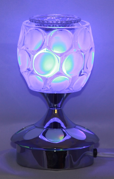 "ED-601 - LED Aroma Oil Burners 5""W 7.5"" H, has 3 colors in one lamp. Elegant looking"