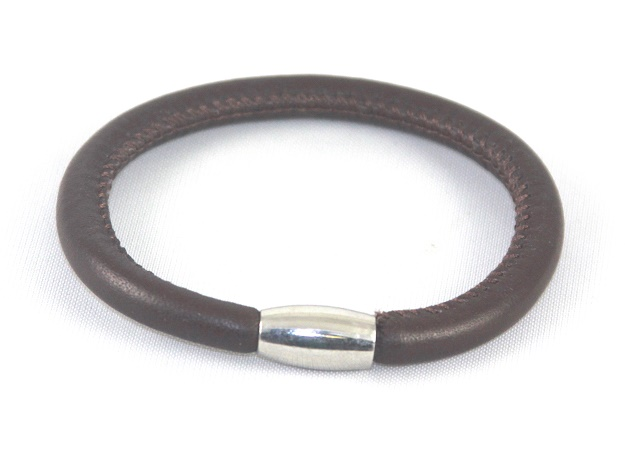 EFRS-1Brown Lamb Leather Bracelet - Forever Jewelry lamb leather Magnetic single bracelet
