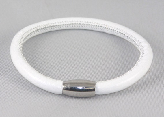 EFRS-1White Lamb Leather Bracelet - Forever Jewelry lamb leather Magnetic single bracelet