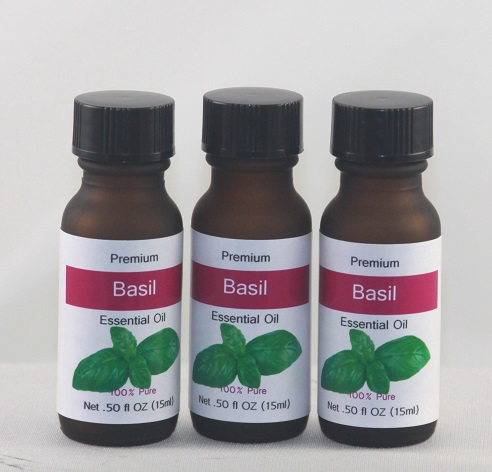 Basil Pure Essential - Half OZ Essential Oils, only use a couple of drops at a time