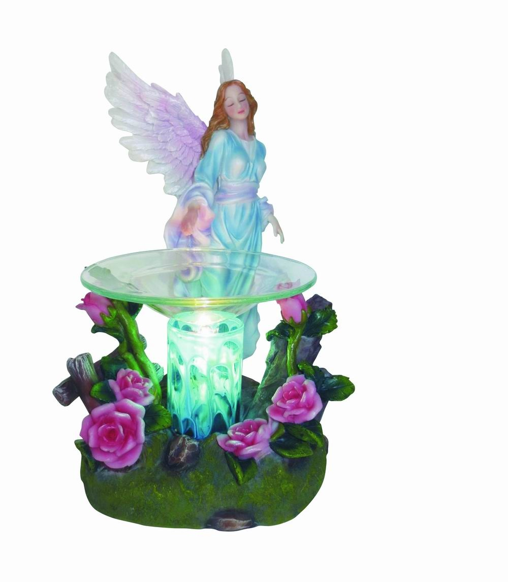 EP-139 BLUE ANGEL POLY RESIN OIL BURNER - Poly Resin Electric Oil Burner/fragrance lamp. Price is each pc, its packed 4 pcs to a case.