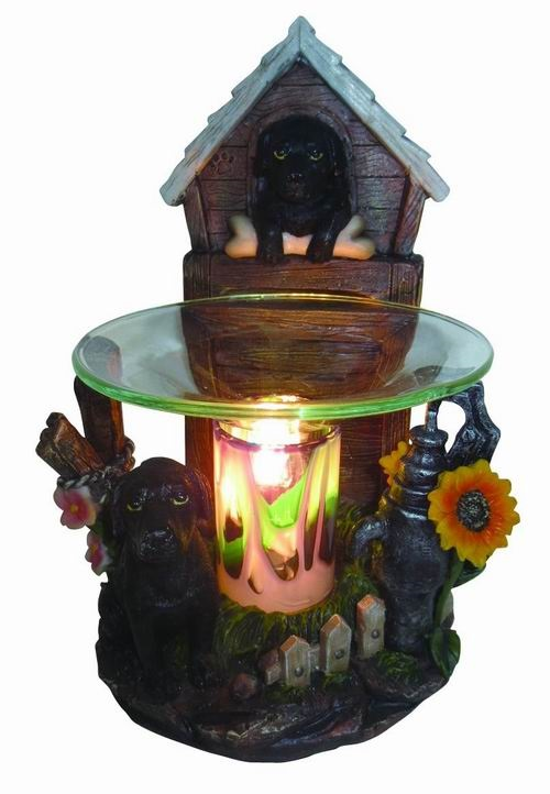 EP-144 BLACK DOG POLY RESIN OIL BURNER - Poly Resin Electric Oil Burner/fragrance lamp. Price is each pc, its packed 4 pcs to a case.