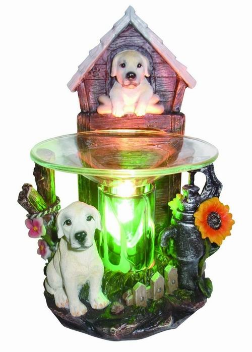 EP-145 WHITE DOG POLY RESIN OIL BURNER - Poly Resin Electric Oil Burner/fragrance lamp. Price is each pc, its packed 4 pcs to a case.