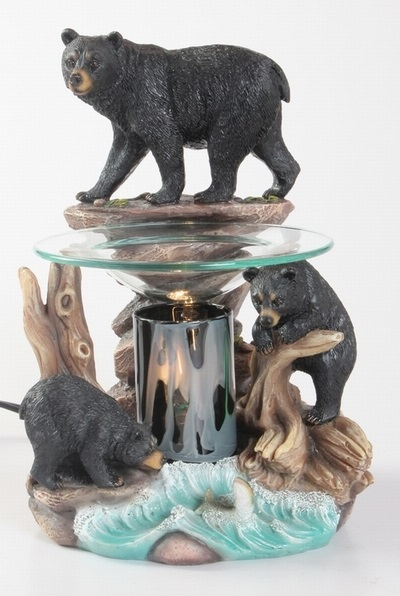 EP-150 Bear on Rock - Poly Resin Electric Oil Burner/fragrance lamp. Price is each pc, its packed 4 pcs to a case.