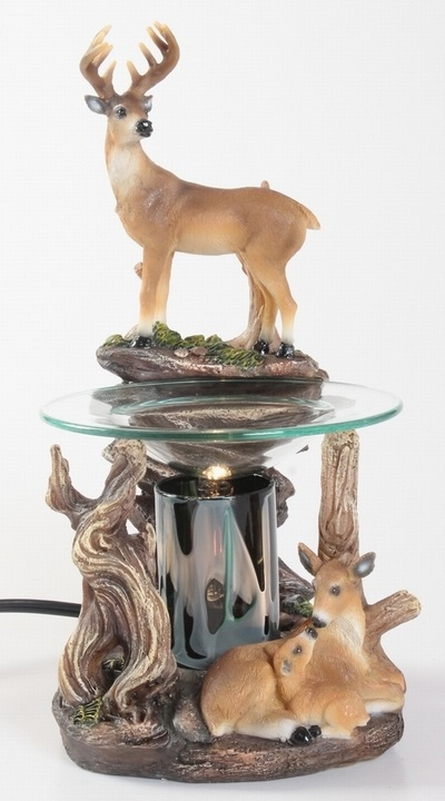 EP-152 Wild Deer - Poly Resin Electric Oil Burner/fragrance lamp. Price is each pc, its packed 4 pcs to a case.