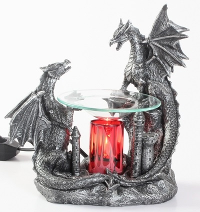 EP-153 Double Black Dragon - Poly Resin Electric Oil Burner/fragrance lamp. Price is each pc, its packed 4 pcs to a case.