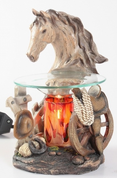 EP-158 Horse Head - Poly Resin Electric Oil Burner/fragrance lamp. Price is each pc, its packed 4 pcs to a case.