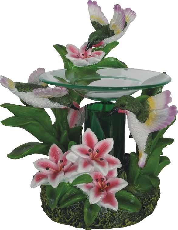 EP-161 New Humming Bird - Poly Resin Electric Oil Burner/fragrance lamp. Price is each pc, its packed 4 pcs to a case.