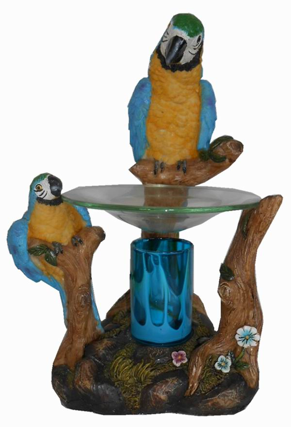 EP-165 Blue Parrot - Poly Resin Electric Oil Burner/fragrance lamp. Price is each pc, its packed 4 pcs to a case.