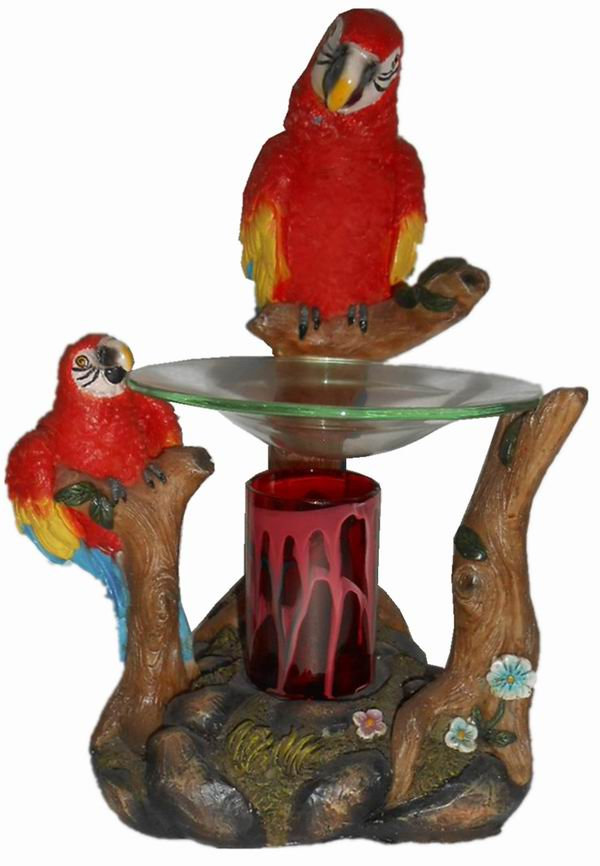 EP-166 Red Parrot - Poly Resin Electric Oil Burner/fragrance lamp. Price is each pc, its packed 4 pcs to a case.