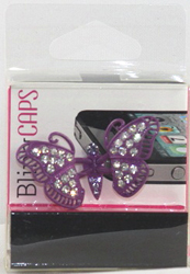 EARCAP11  CELL PHONE CHARMS - PLUGS INTO THE CELL PHONE WHERE THE EAR PHONE GOES. PREVENT DUST AND WATER GOES IN, AND MOST IMPORTANTLY, IT'S AN EXTRA BLING!
