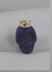 EARCAP20  BLUE SKULL CELL PHONE CHARMS - PLUGS INTO THE CELL PHONE WHERE THE EAR PHONE GOES. PREVENT DUST AND WATER GOES IN, AND MOST IMPORTANTLY, IT'S AN EXTRA BLING!
