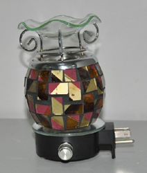 EB-038 - Mozaic style wall plug in Electric oil Burner.