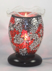 ED-332 Mozaic Electric Oil Burner -  DESIGNER ELECTRIC OIL BURNER GLASS FIGURINE FRAGRANCE LAMP WHOLESALE BY ETS DESIGN