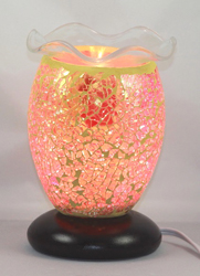 ED-334 Mozaic Electric Oil Burner -  DESIGNER ELECTRIC OIL BURNER GLASS FIGURINE FRAGRANCE LAMP WHOLESALE BY ETS DESIGN
