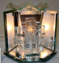 EF-805 JESUS ON THE CROSS - JESUS ON THE CROSS ELECTRIC OIL BURNER GLASS FIGURINE FRAGRANCE LAMP WHOLESALE BY ETS DESIGN