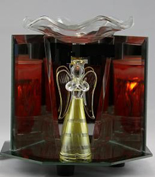EF-812 Angel Electric Oil Burner - ANGLE  ELECTRIC OIL BURNER GLASS FIGURINE FRAGRANCE LAMP WHOLESALE BY ETS DESIGN