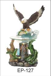 EP-127 FLYING EAGLE POLY RESIN OIL BURNER - Poly Resin Electric Oil Burner/fragrance lamp. Price is each pc, its packed 4 pcs to a case.