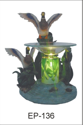 EP-136 WILD GEESE POLY RESIN OIL BURNER - Poly Resin Electric Oil Burner/fragrance lamp. Price is each pc, its packed 4 pcs to a case.