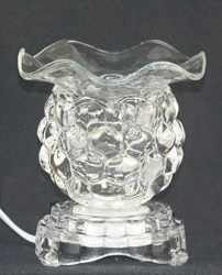 ES-211 CLEAR  - Electric OIL BURNER, LOOKS LIKE LITTLE GRAPES. VERY CUTE AND SELLS WELL.