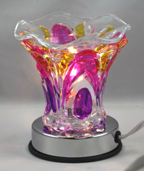 ET-240  OIL BURNER - Multi Color Electric OIL BURNER Turns on and off by Touch