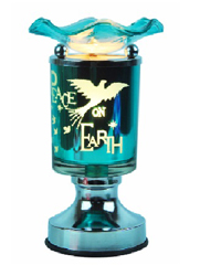 ET-358 - PEACE ON EARTH ELECTRIC OIL BURNER BY TOUCH. 12PC PER CASE.