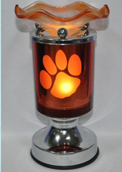 ET-365 PAW PRINT TOUCH OIL BURNER - PAW PRINT ELECTRIC OIL BURNERS. TURNS ON AND OFF BY TOUCH THE CHROM PART OF THE BURNER, 12 PCS PER CASE.