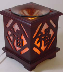 EW-711 Wood OIL BURNER - WOOD ELECTRIC OIL BURNER. DIMMER SWITCH TO ADJUST THE BRIGHTNESS OF THE LAMP.