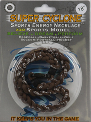 SEN05  BROWN  SPORTS ENERGY NECKLACE - SUPER CYCLONE SPORTS ENERGY NECKLACE, GREAT RETAIL VALUE!
